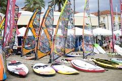 Wind-Festival 2013 - Diano-Jachthafen Lizenzfreie Stockfotos