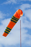 Wind flag windsock in airport Stock Photos