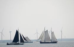 Wind For Sailing And Windmills Stock Images