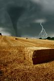 Wind force. Hits the countryside Royalty Free Stock Image