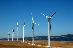 wind för alternativ energi Arkivbilder