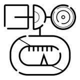 Wind gauge icon vector illustration stock illustration