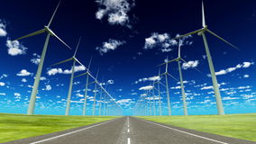 Wind-generated electricity Stock Image