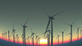 Wind-generated electricity stock video footage