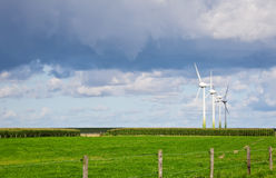 Wind Generator. This image shows four wind generator in a row royalty free stock image