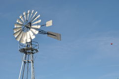 Wind generator. Wind driven generator or pump Royalty Free Stock Photo