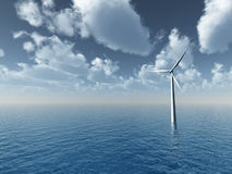 Wind generator stock illustration
