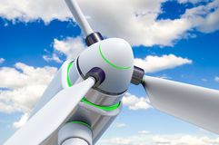 Wind generator against a beautiful sky Royalty Free Stock Photo