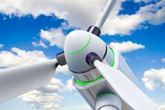 Wind generator against a beautiful sky Royalty Free Stock Images