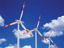 Wind generator in 3D. / Rendering Royalty Free Stock Photos