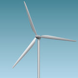 Wind generator. A device converting wind power into electricity. Vector illustration Stock Photography