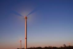 Wind generator. Ekologiskaya energy, wind turbine in a field stock image