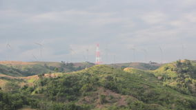 Wind Generator on mountain stock video