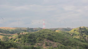 Wind Generator on mountain stock footage