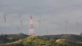 Wind Generator on mountain stock video footage