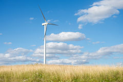 Wind generator turbine on summer landscape Royalty Free Stock Image