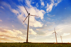 Wind generator turbines Stock Photography