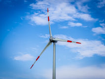 Wind generator turbines, close up Royalty Free Stock Images