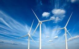 Wind generator turbines in sky Royalty Free Stock Photos