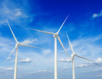 Wind generator turbines in sky Stock Photography