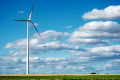Wind generator turbines on summer Stock Photography