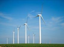 Wind-Generatoren, Windmühlen, Strom Lizenzfreies Stockfoto