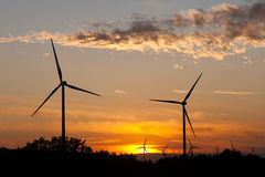 Wind generators. In Quintanilla Sobresierra, Burgos (Spain Stock Photo