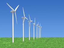 Wind generators stock illustration