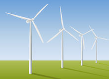 Wind-generators Stock Photography