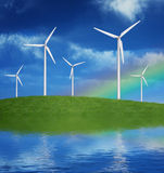 Wind generators vector illustration