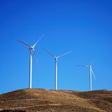 Wind generators, Andalusia, Spain. Royalty Free Stock Photo