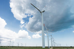 Wind Generators. On Cloudy Day Stock Images