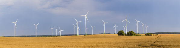 Wind generators deliver electricity in Wolgast Royalty Free Stock Photography