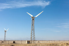 Wind generators in Egypt Stock Photography