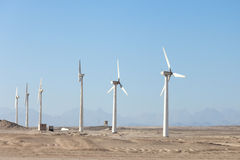 Wind generators in Egypt Stock Images