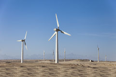 Wind generators in Egypt Royalty Free Stock Image