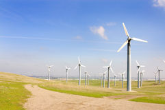 Wind generators farm Royalty Free Stock Images