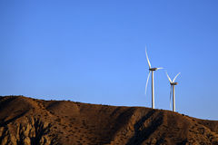 Wind generators on the hill Stock Image
