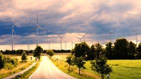Wind generators in landscape Stock Images