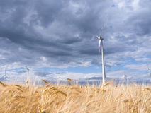 Wind generators in landscape Royalty Free Stock Photography