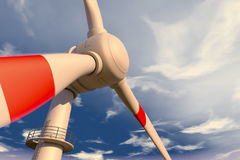 Wind generators. Large wind generators for generating energy Royalty Free Stock Images