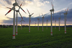 Wind generators. Large wind generators for generating energy Royalty Free Stock Photo