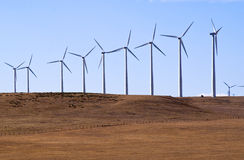 Wind generators make electricity Royalty Free Stock Images