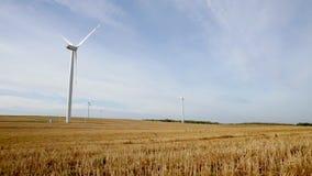 Wind generators produce electricity stock video