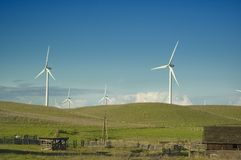 Wind generators in a rural setting Stock Image