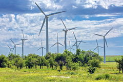 Wind generators. Wind generators are in the Tien Shan. Kazakhstan Stock Photos