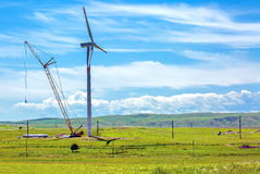 Wind generators. Royalty Free Stock Images