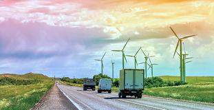 Wind generators. Stock Images