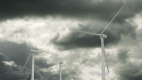 Wind Generators Time Lapse Royalty Free Stock Images