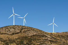 Wind generators on the top Stock Photography